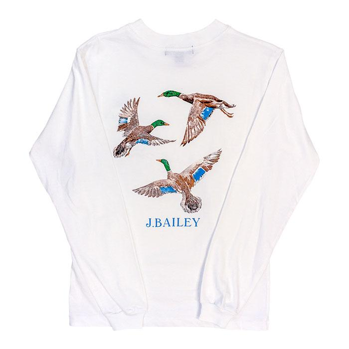 J. Bailey Logo Tee - Ducks on White
