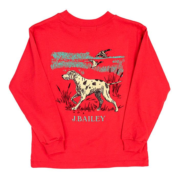 J. Bailey Logo Tee - Dog on Coral