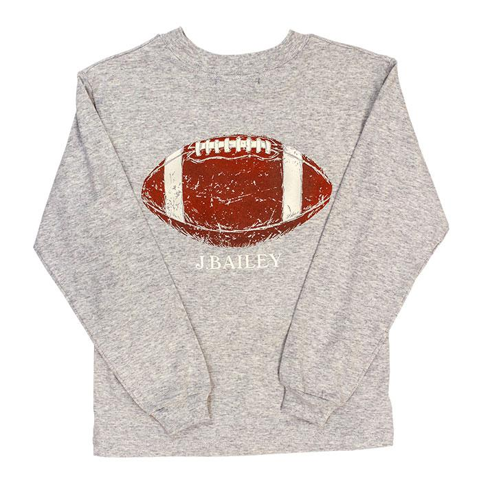 J. Bailey Logo Tee - Football on Grey