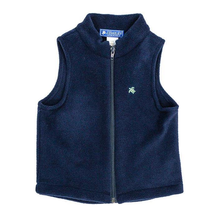 Mills Fleece Vest - Navy