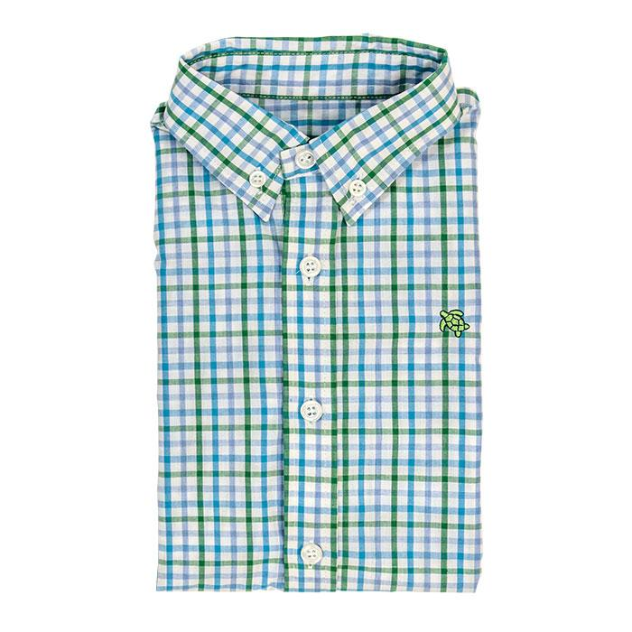 Roscoe Button Down Shirt - Fig Plaid