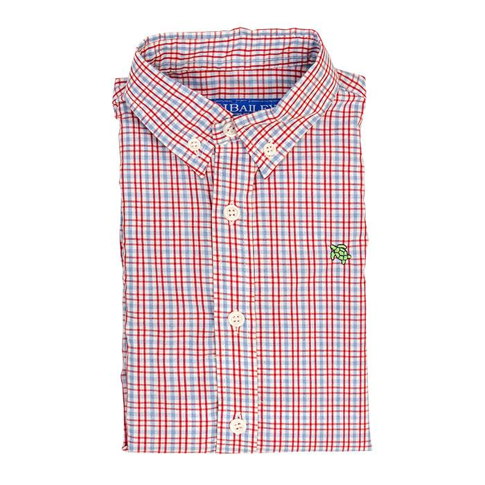Roscoe Button Down Shirt - Poppy Plaid