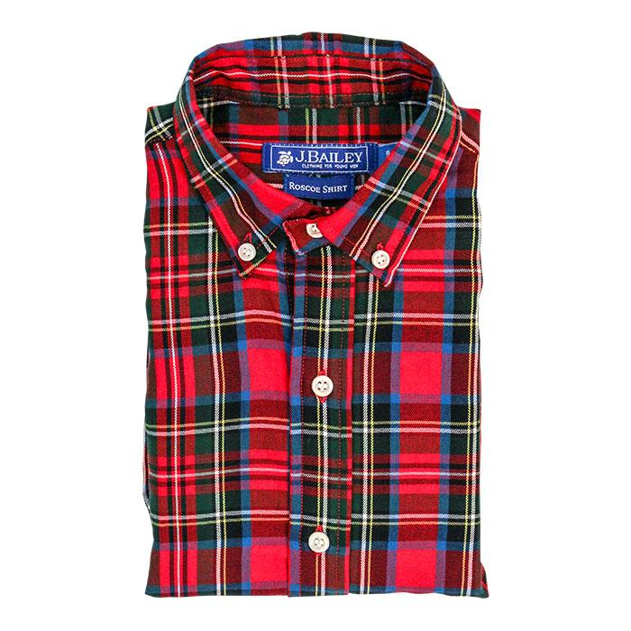 Roscoe Button Down Shirt - Wales Plaid