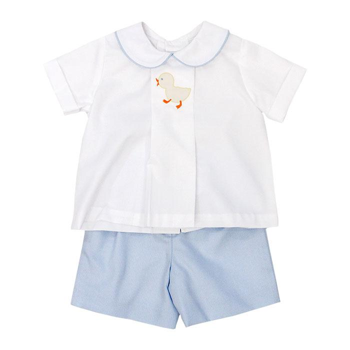 Shadow Stitch Ducky Short Set
