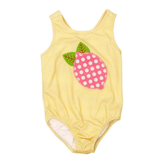 Pink Lemonade Collection-Lemons One Piece Spandex Swim Suit