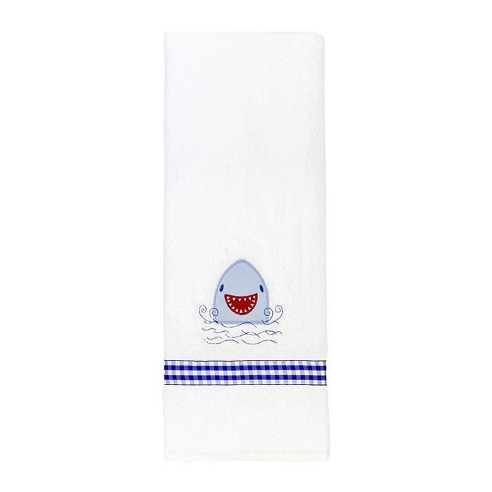 Smiley Shark Appliqué Towel