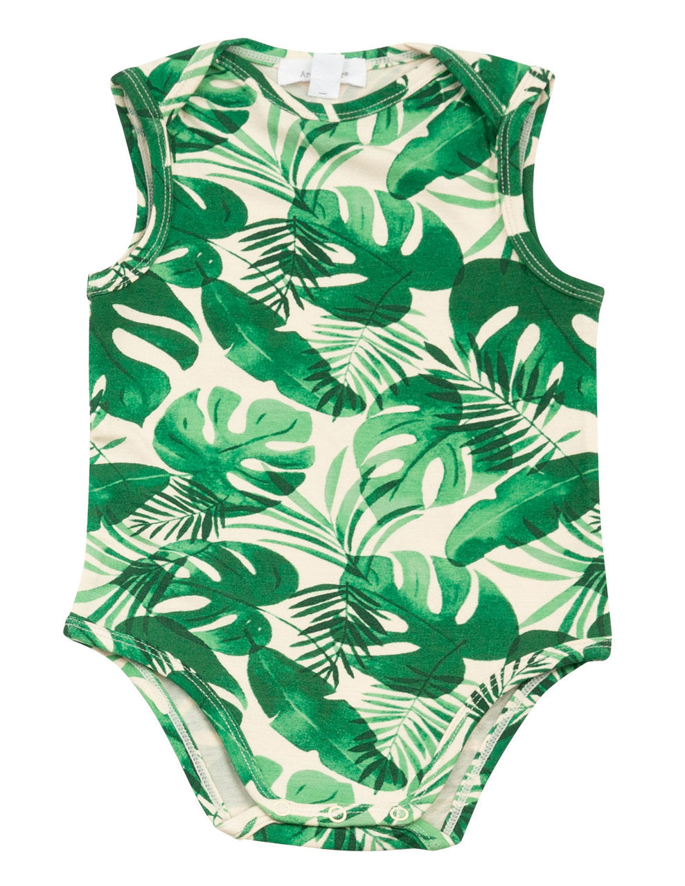 Monstera Deliciosa Bodysuit with Lap Shoulder Opening