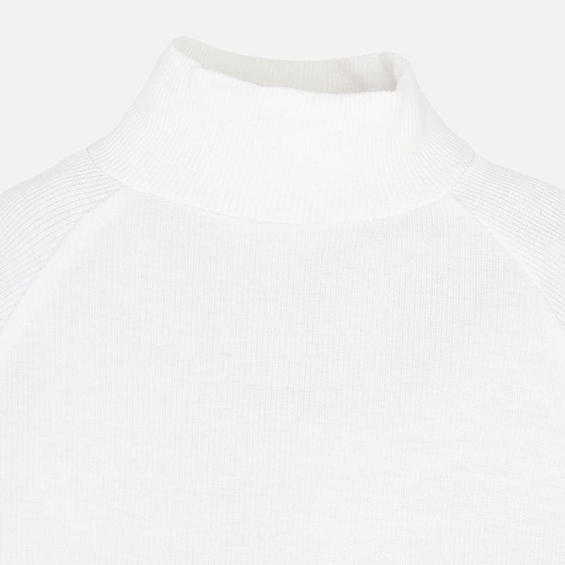 White Mockneck Sweater