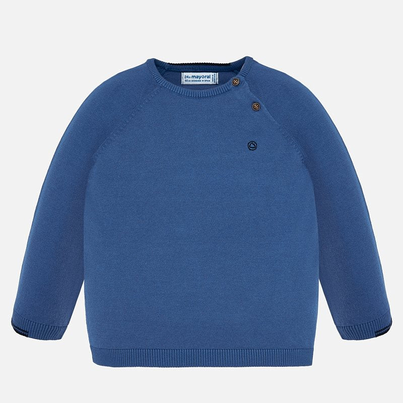 Lake Blue Long Sleeve Sweater