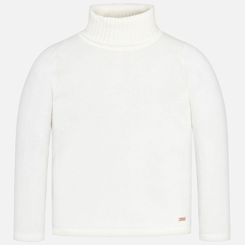 Turtleneck Sweater - White