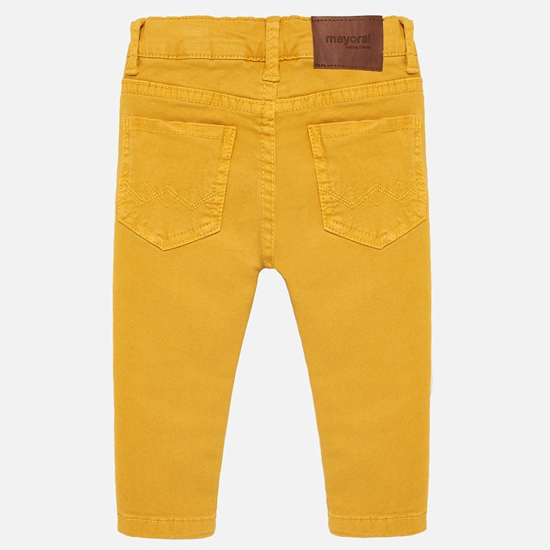 Mustard Casual Twill Pant
