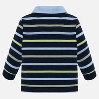 Prusia Stripe Long Sleeve Polo