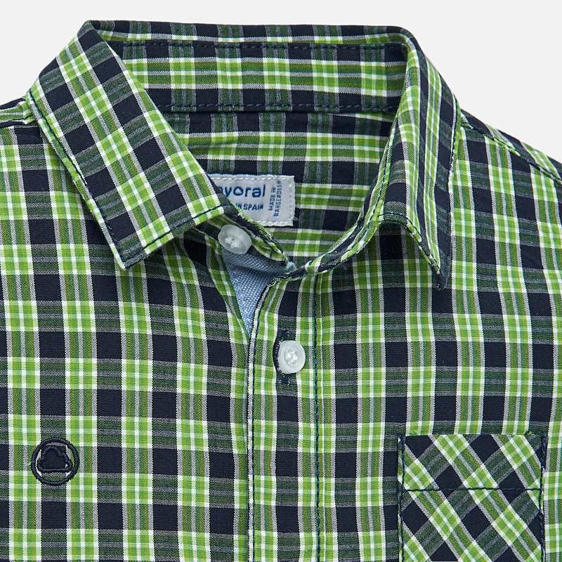 Green & Navy Plaid Button Up