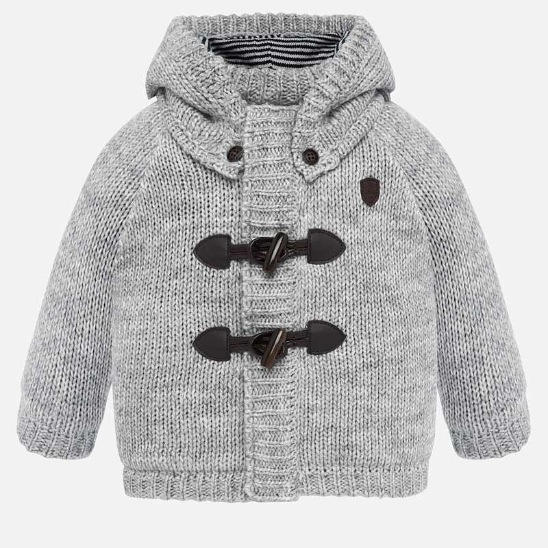 Woven Knit Jacket - Grey