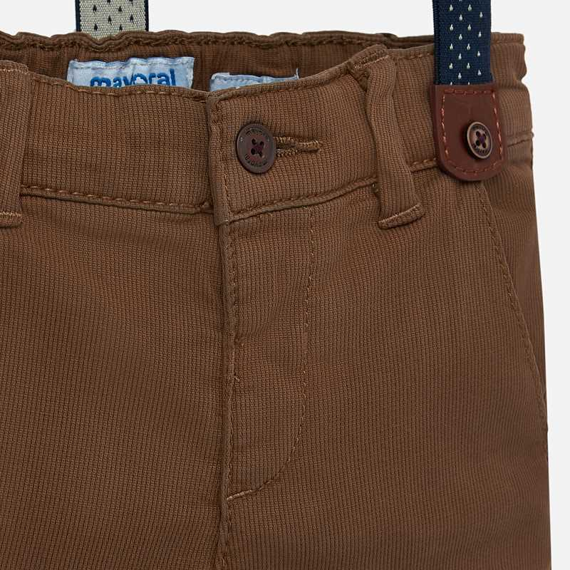 Brown Chino Pant with Suspenders