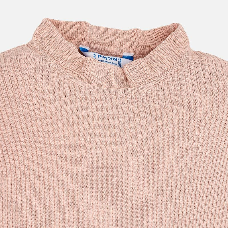 Pink Sweater with Ruffles
