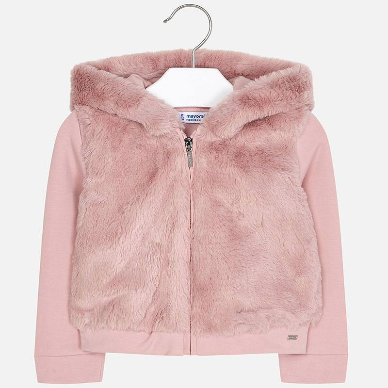 Fuzzy Zip Up Jacket - Baby Pink