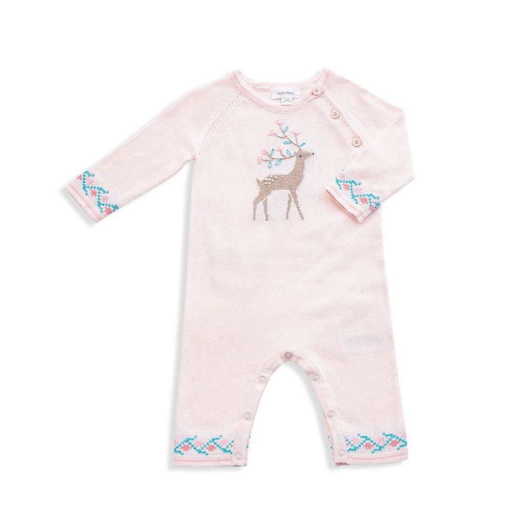 Pink Knit Western Wilderness Deer Coverall