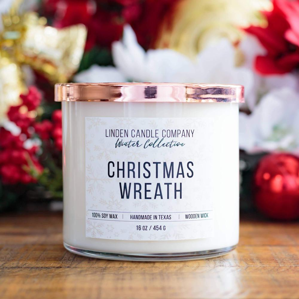 Christmas Wreath 16oz Soy Candle