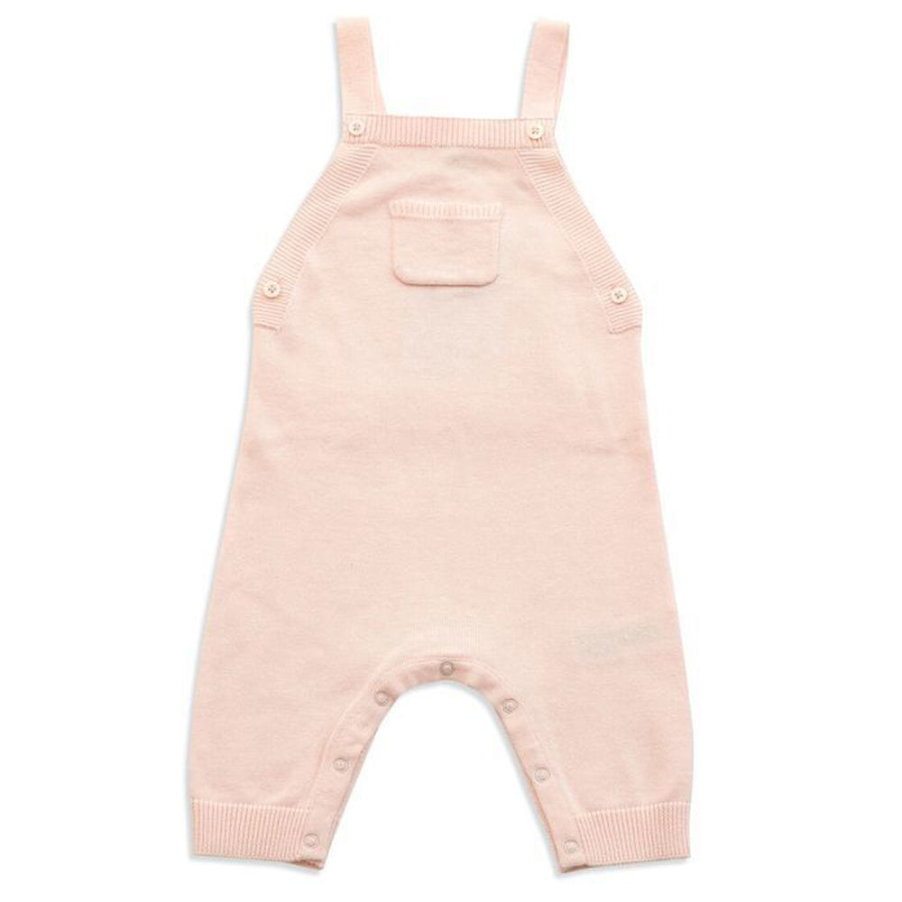 Light Pink Overall with Ruffle Pocket