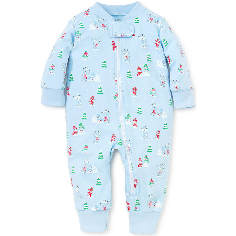 Light Blue Snow Day Pajama w/ Zipper