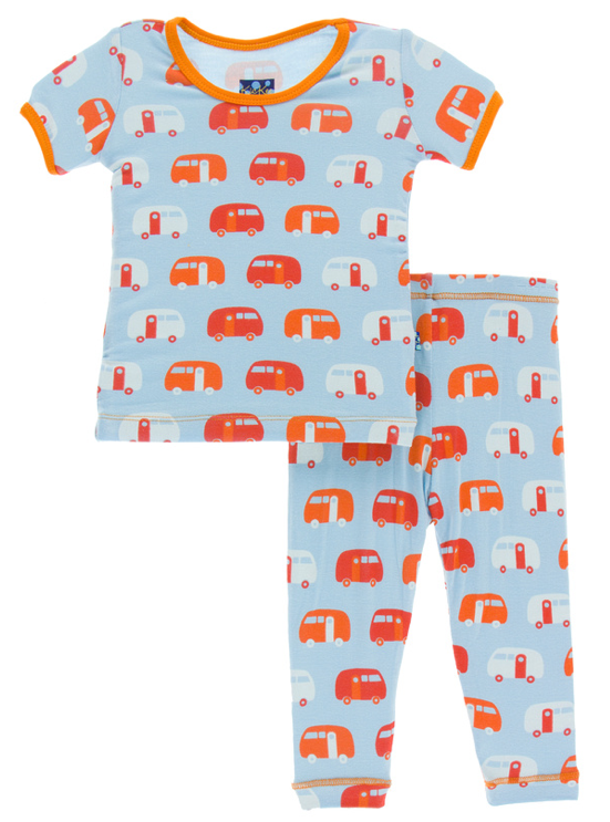 Pond Camper Short Sleeve Pajama Set