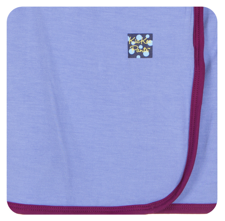KicKee Pants - Forget Me Not with Melody Trim Swaddle - kkgivingtree
