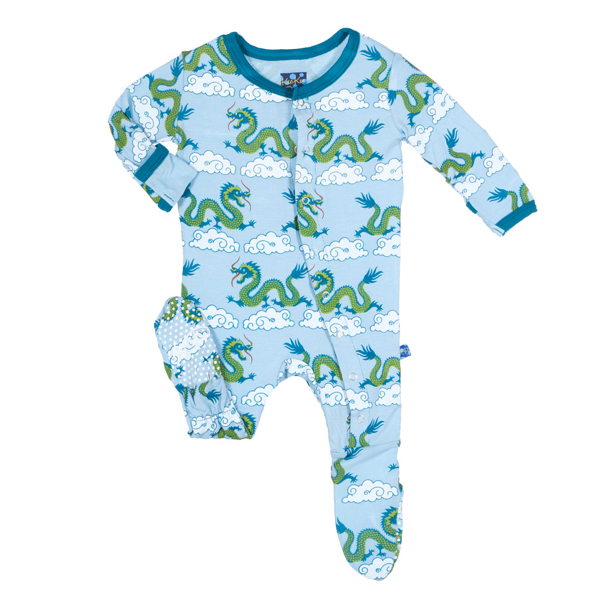 KicKee Pants - Cloud Dragon Footie - kkgivingtree - K&K's