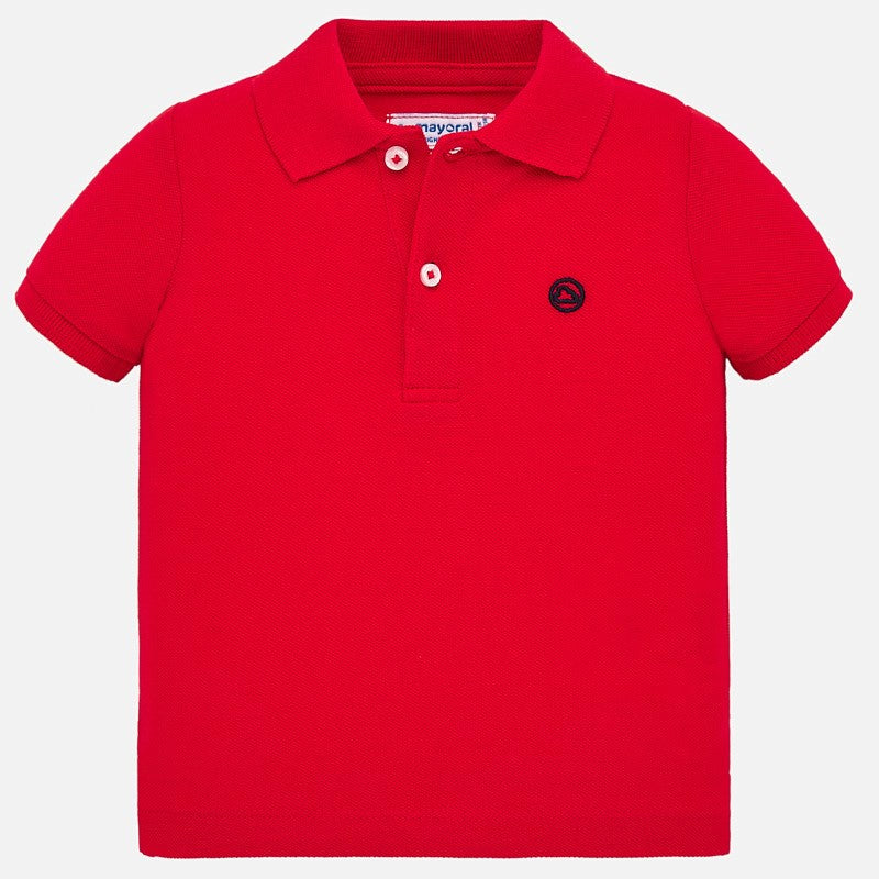 Red Short Sleeved Polo