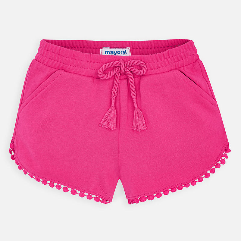 Fuchsia Knit Shorts
