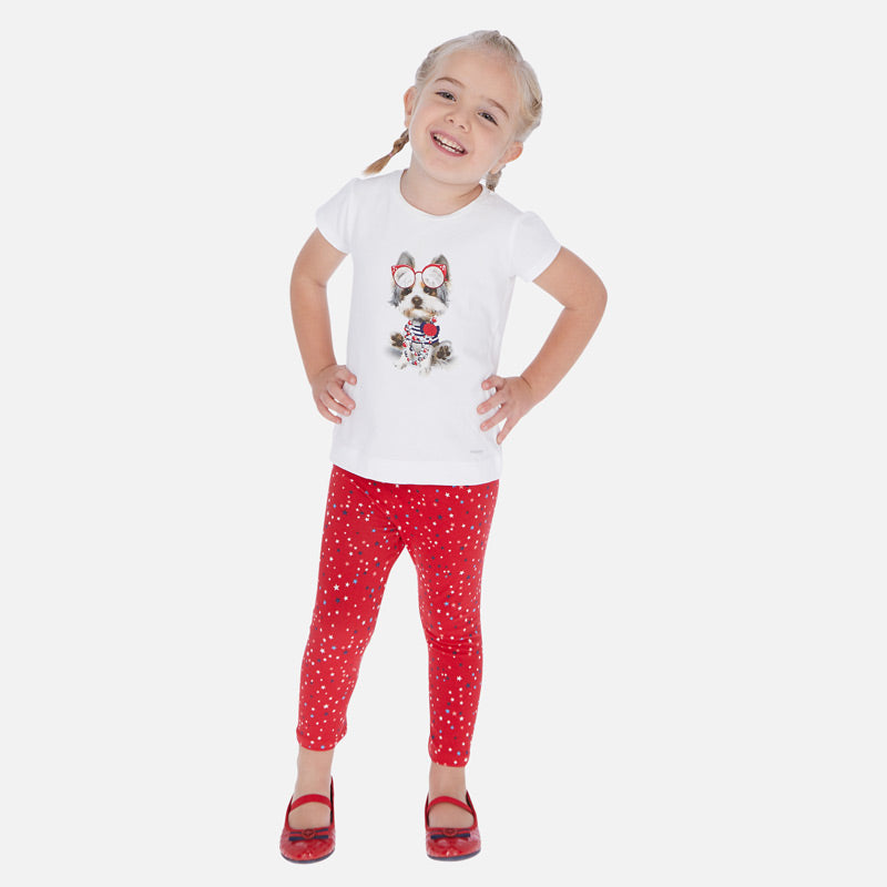 Red & White Leggings - Pack of 2