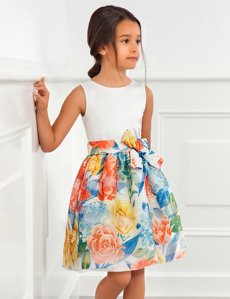 Floral Printed Organza Dress