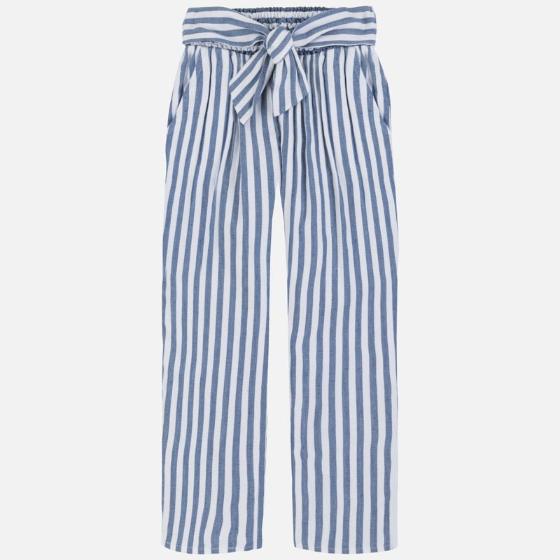 Blue & White Striped Pant