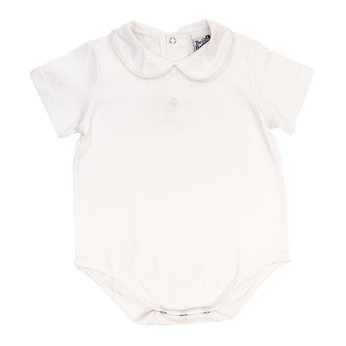 White Knit Short Sleeve Onesie
