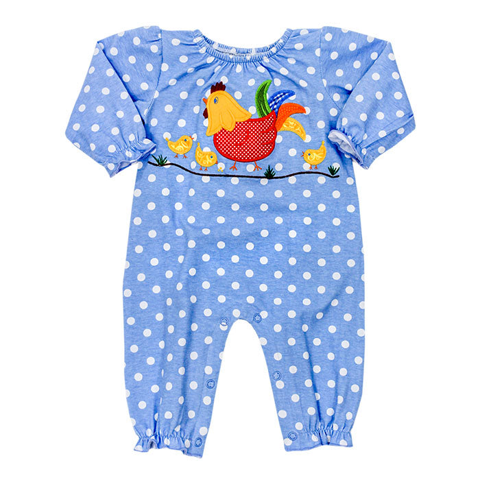 Chicken Kendall long bubble romper