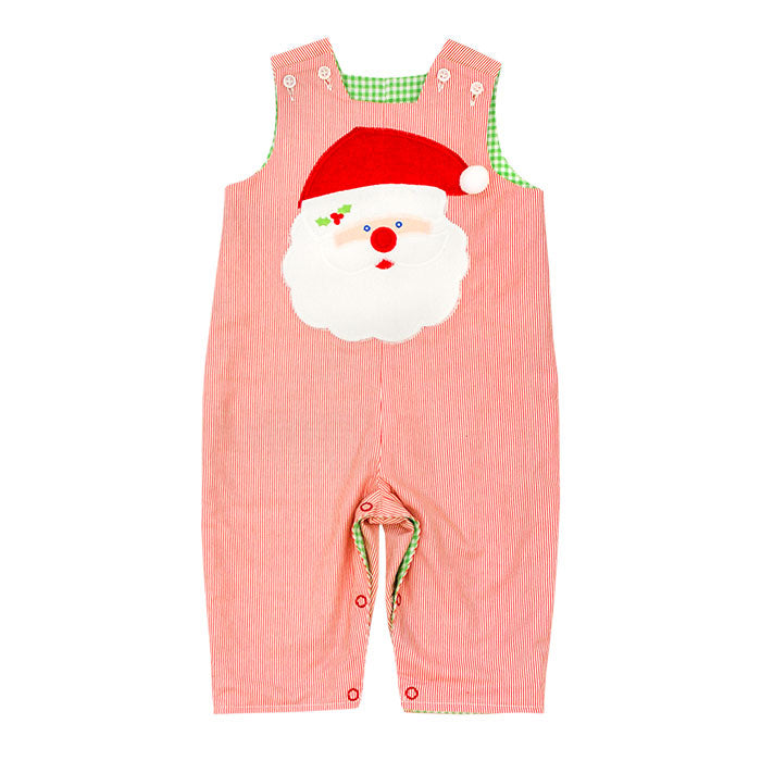 Christmas Santa vs White Puppy ~ Reversible John John
