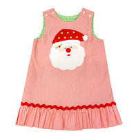 Santa vs White Puppy ~ Reversible Ruffle Jumper