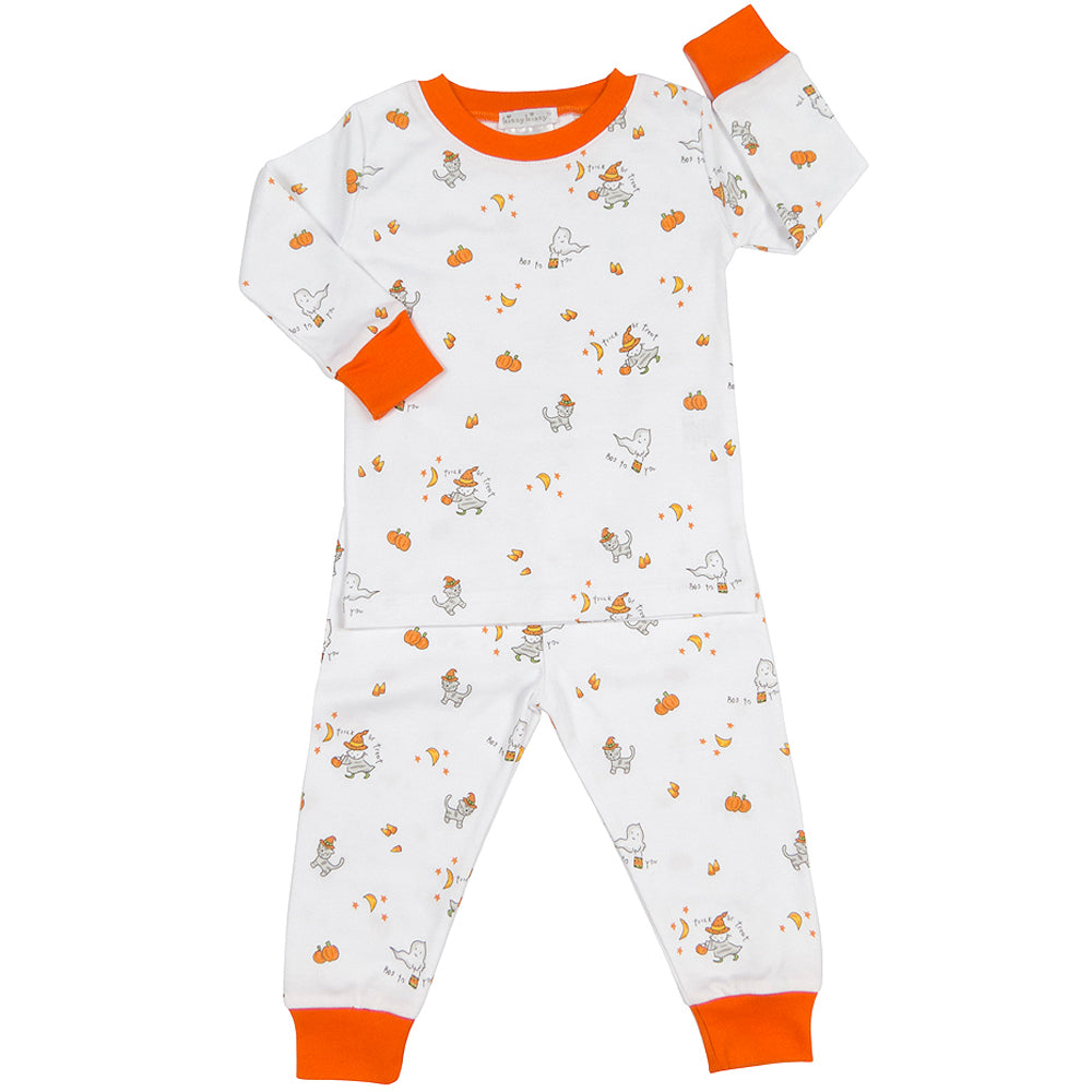 Trick or Treat Halloween Pumpkin Two-Piece Pajama Set