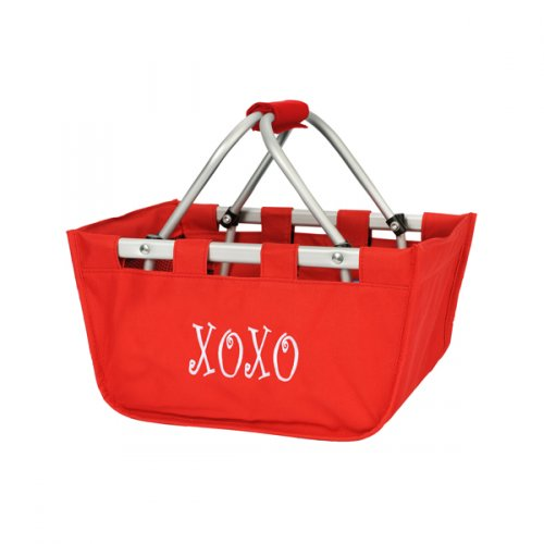 Red Mini Market Tote - Personalize it - K&K's Giving Tree