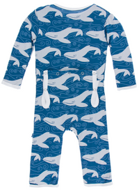 Twilight Whale Coverall w/ Snaps