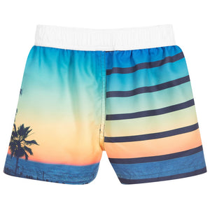 Beach Print Swim Shorts