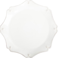 Berry and Thread Whitewash Scallop Charger Plate