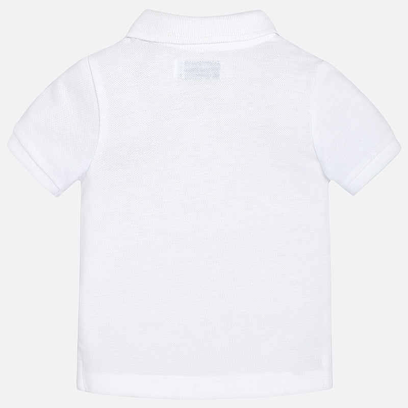White Short Sleeve Polo Shirt