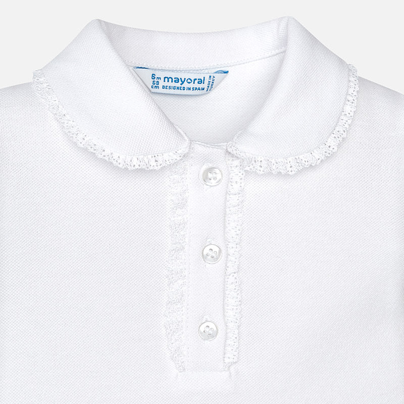 White Piqué Polo Shirt