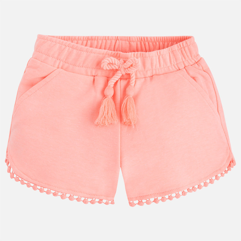 Peach Tassel Knit Shorts