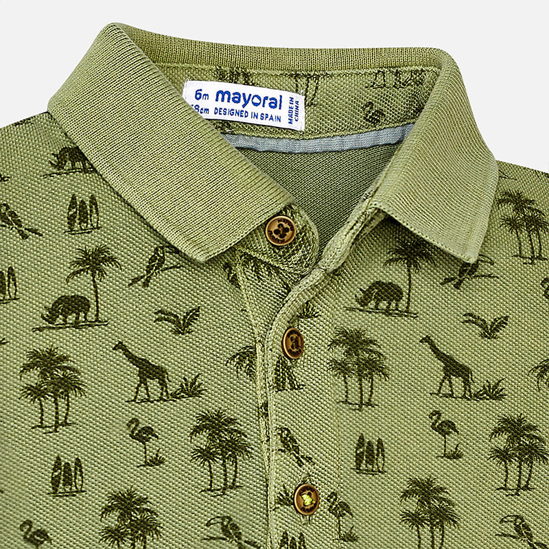 Olive Green Safari Polo Shirt