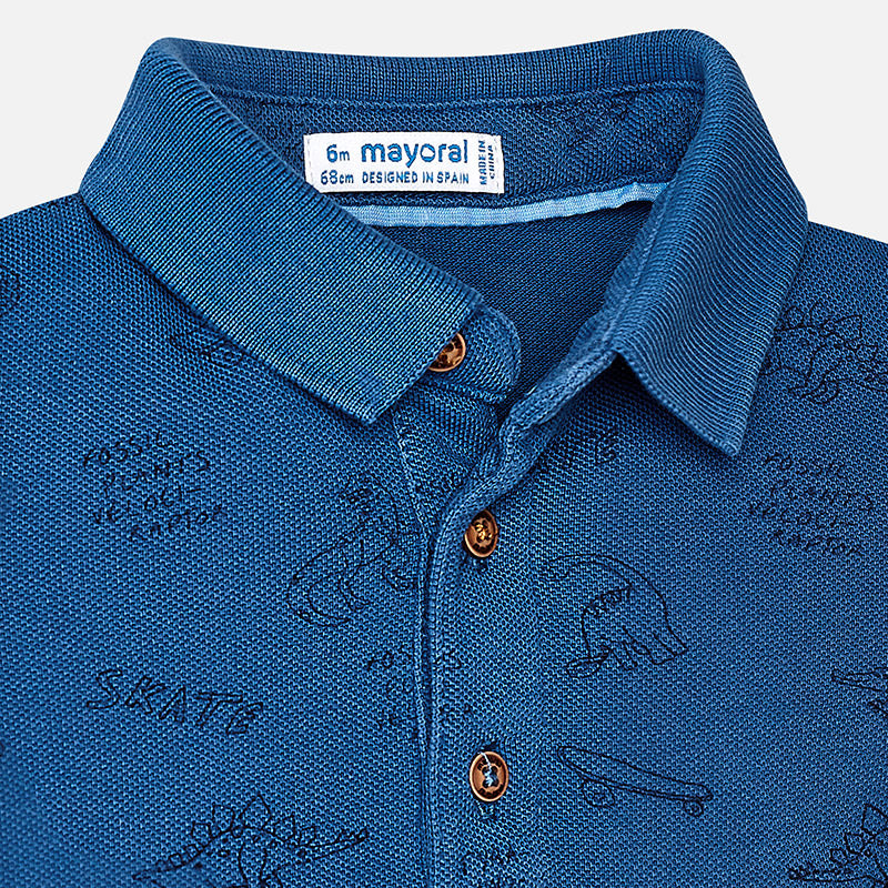 Blue Dino Polo Shirt