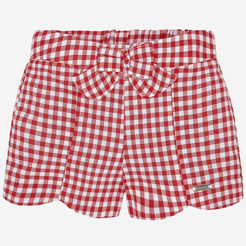 Red Gingham Scallop Shorts