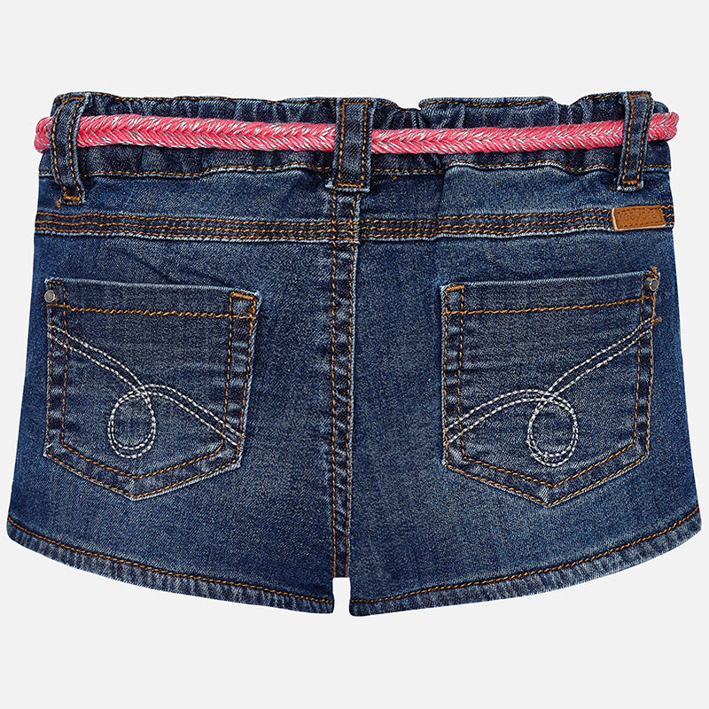 Rhinestone Dark Denim Shorts & Belt