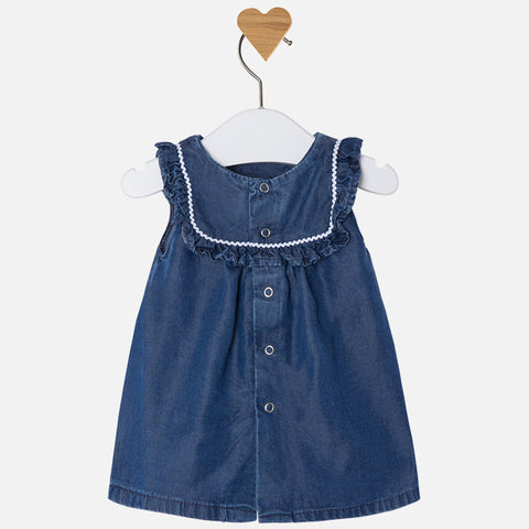 Daisy Embroidered Denim Dress